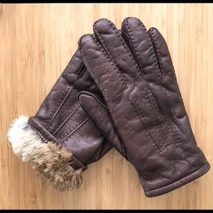 Vintage Leather Fur-Lined Gloves ❄️